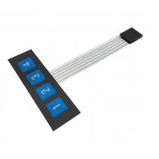 Numeric Keypad Membrane 1x4