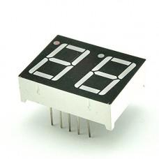 "BD05621AS-10 Dual 7-Segment LED Display Common Cathode 2""x0.56"""