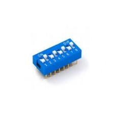 DIP Switch 8 way (blue)