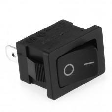 Mini Rocker Switch SPST 3A 250V (Black)