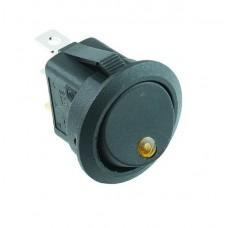 SPST Circular Switch with Orange LED Indicator