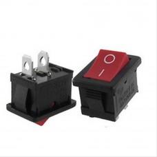 Mini Rocker Switch SPST 3A 250V (Red)